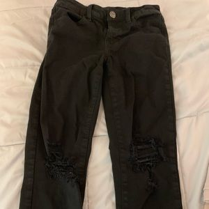 Low rise black ripped jeans from American eagle!